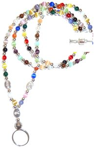 Multicolor Cancer Awareness Lanyard wtih Magnetic clasp, hope, cure and cancer ribbon charms