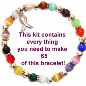 Cancer Awareness Bracelet Kit - Create your own cancer awareness fundraising supplies