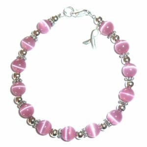 Breast Cancer Awareness Bracelet 8mm