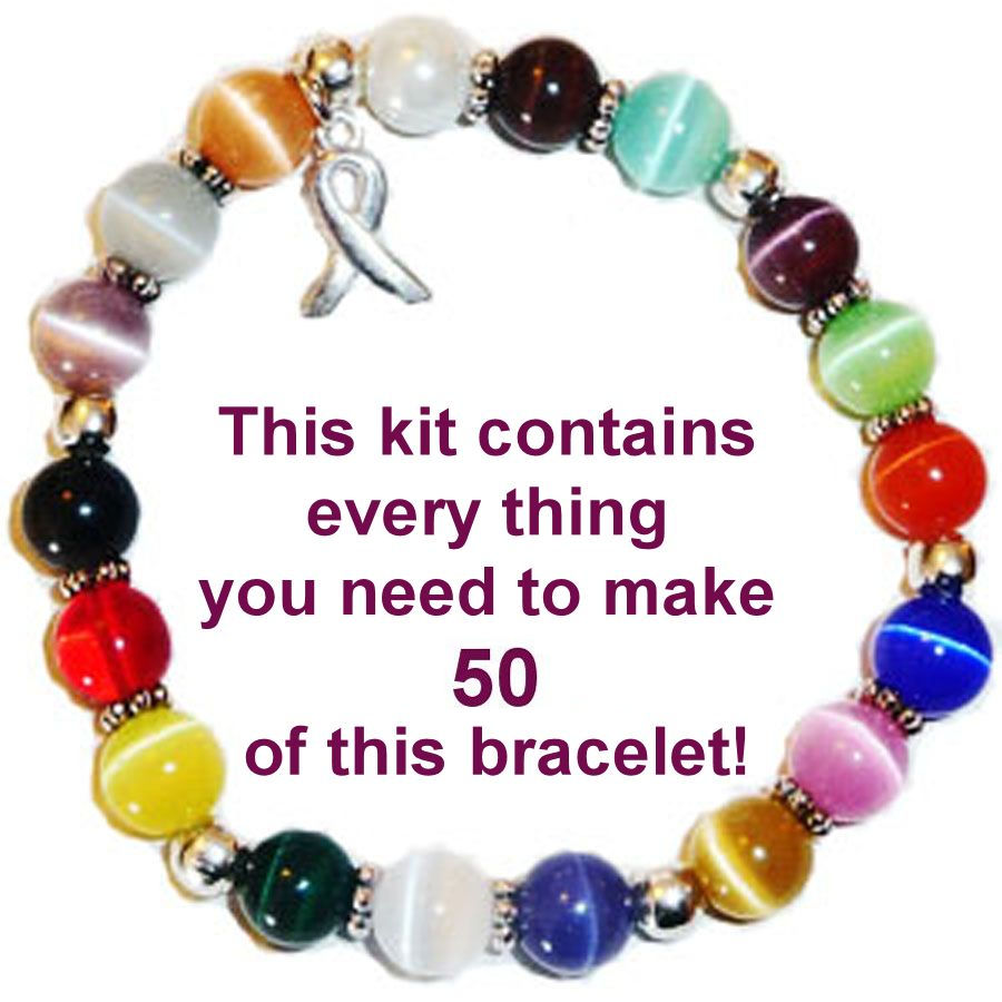 Cancer awareness kit - make your own bracelets