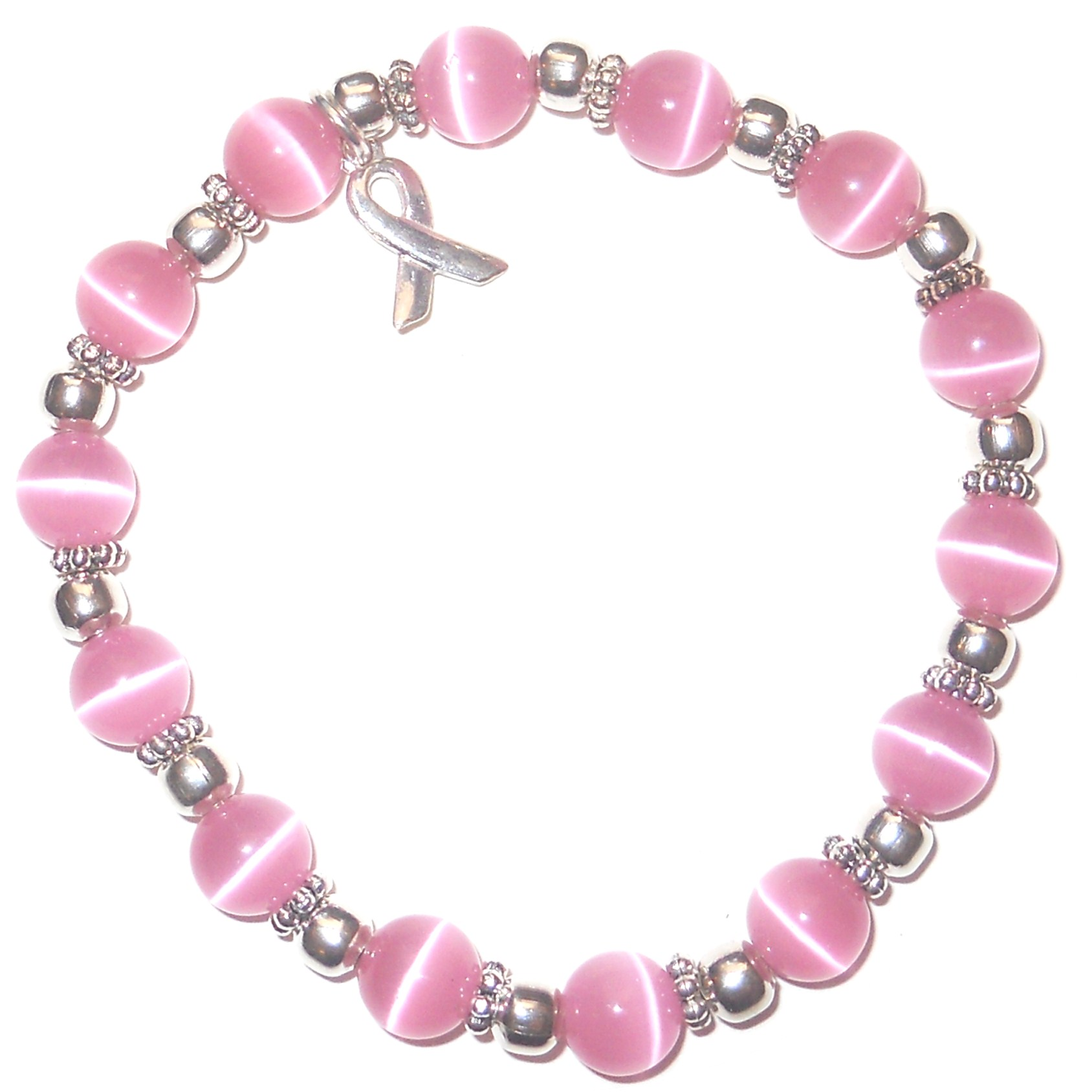 a leukemia bracelets product archives bracelet packaged clasp wire category hidden hollow and stretchy cancer breast with beads awareness stretch items