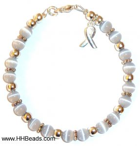 Brain Cancer Awareness Bracelet - 6mm