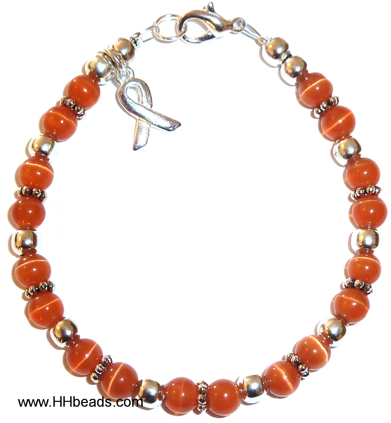 orange butterfly bracelets warriors awareness bracelet leukemia gemstone up products hope img never and ribbon give