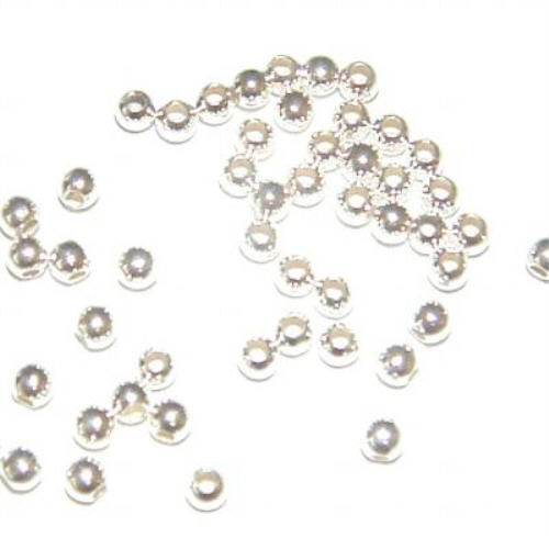 silver beads sterling round product pack hole seamless of