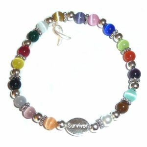 Survivor cancer awareness bracelet