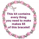 Breast Cancer Awareness Jewelry Kit - Make Your Own Bracelets For Higher Profits