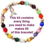 Cancer Awareness Bracelet Kit - Comes with everything you need to make 65 bracelets.