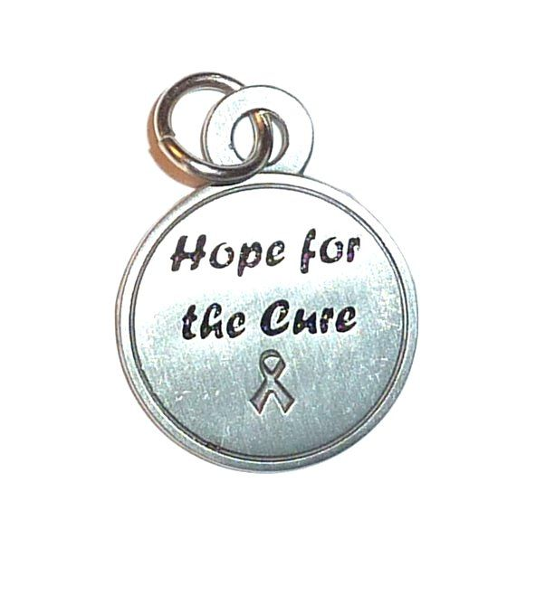 Hope For The Cure - cancer awareness charm