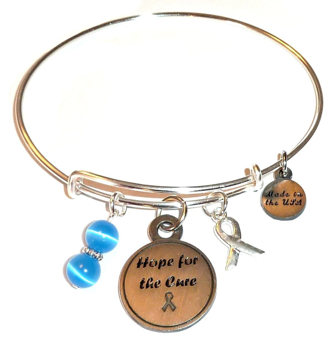 Colon Cancer Awareness Bangle Bracelet