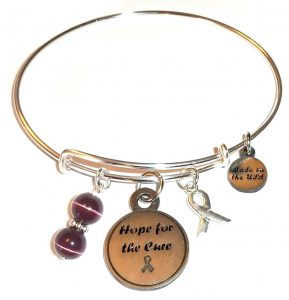 Pancreatic Cancer Awareness Bracelet - Bangle Style