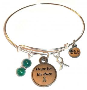 Kidney Cancer Awareness Bracelet - Bangle Style