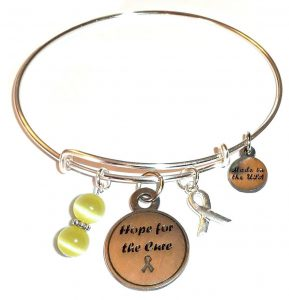 Childhood Cancer Awareness Bracelet - Hope For The Cure Bangle