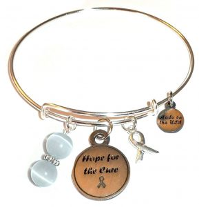 Brain Cancer Awareness Bracelet - Hope For The Cure Bangle