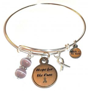 Cancer Survivor & Epilepsy Awareness Bracelet - Hope For The Cure Bangle