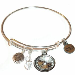 Spring Gift Idea - birthstone bangle bracelet