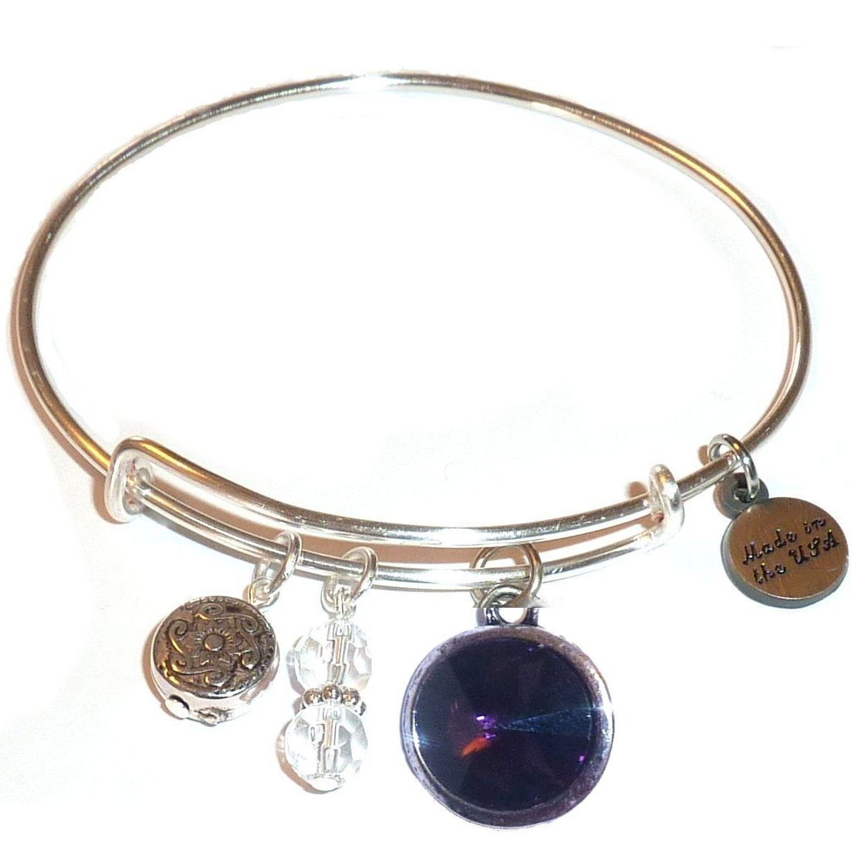 spring gift idea - birthstone bangle bracelet february