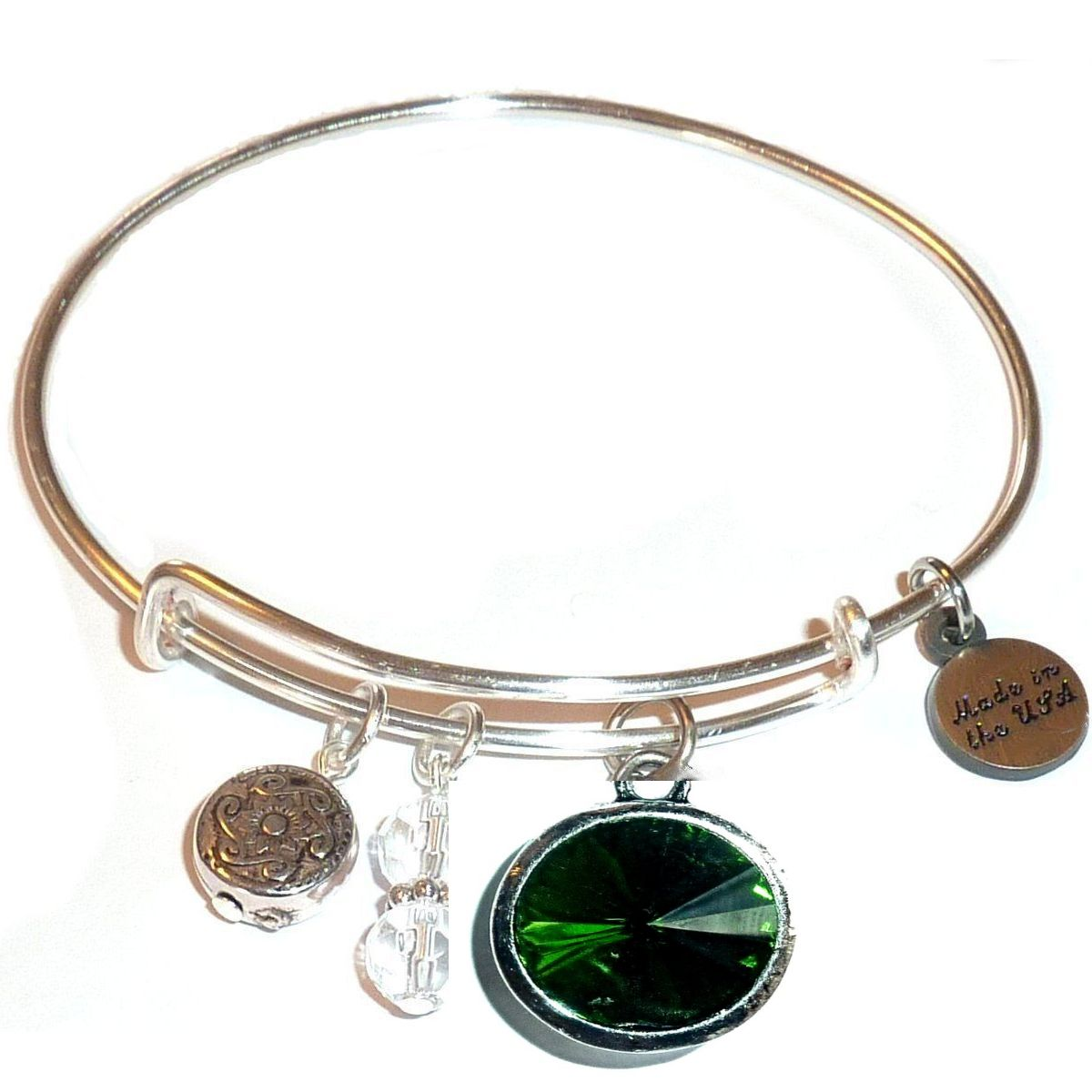 Spring gift idea - May birthstone bangle bracelet