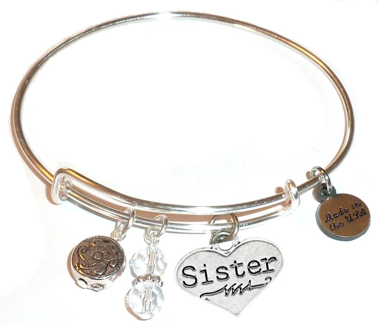 Nurse gift ideas - sister bangle bracelet