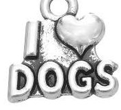 mohter's day gift idea - I love dogs charm