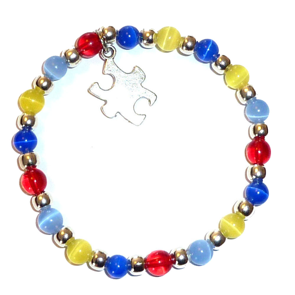 image jigsaw jewelry pendant shape rhodium awareness autism puzzle bracelet crystal diy my product multicolored products charms piece pu