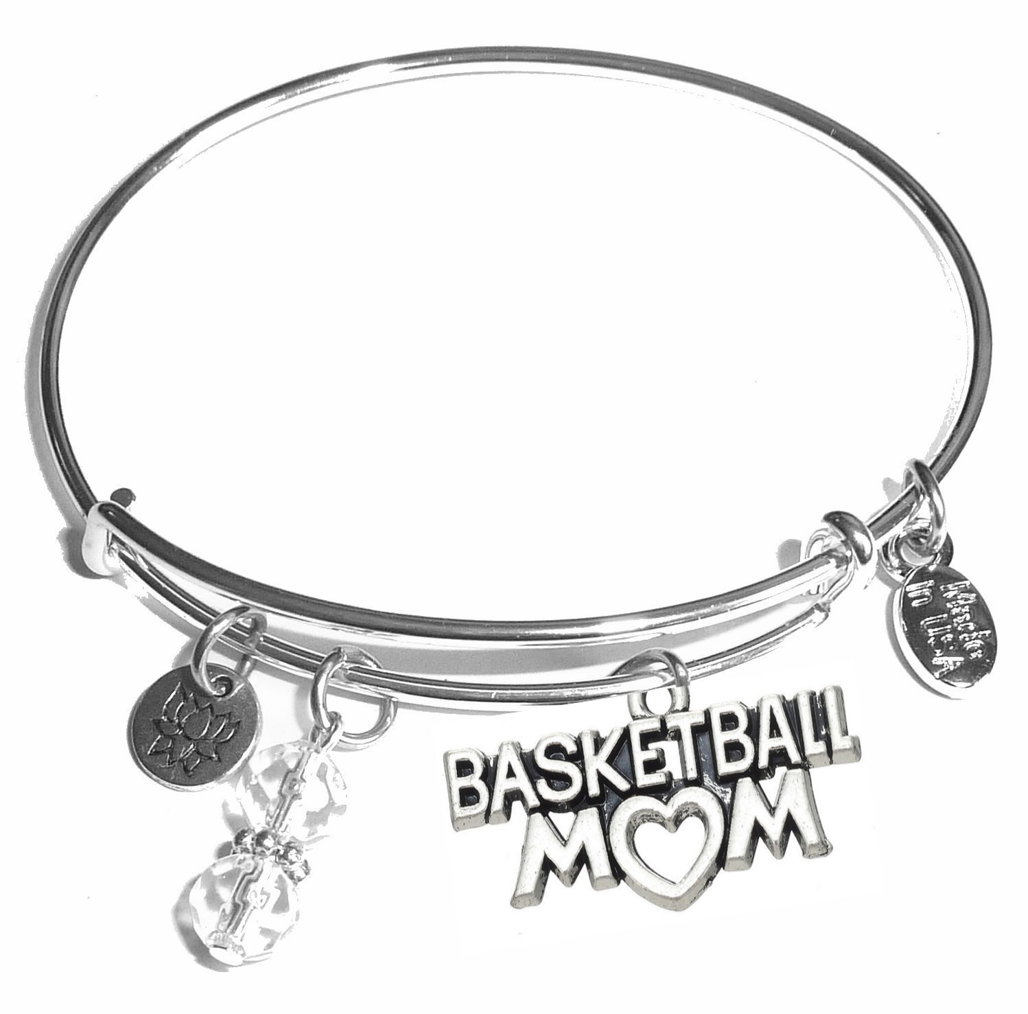 charms bracelets and bangles crochet women lover charm crocheting for products bracelet silver bangle mom baseball
