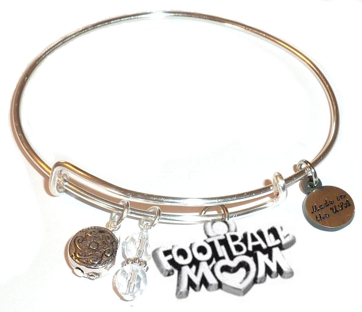 spring gift idea - football mom bangle bracelet