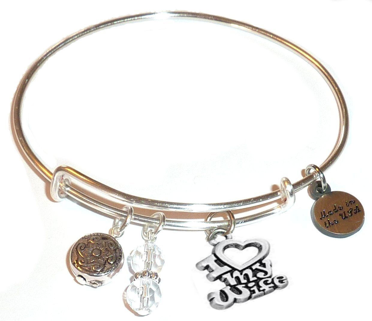 Spring gift guide - I love my wife bangle bracelet