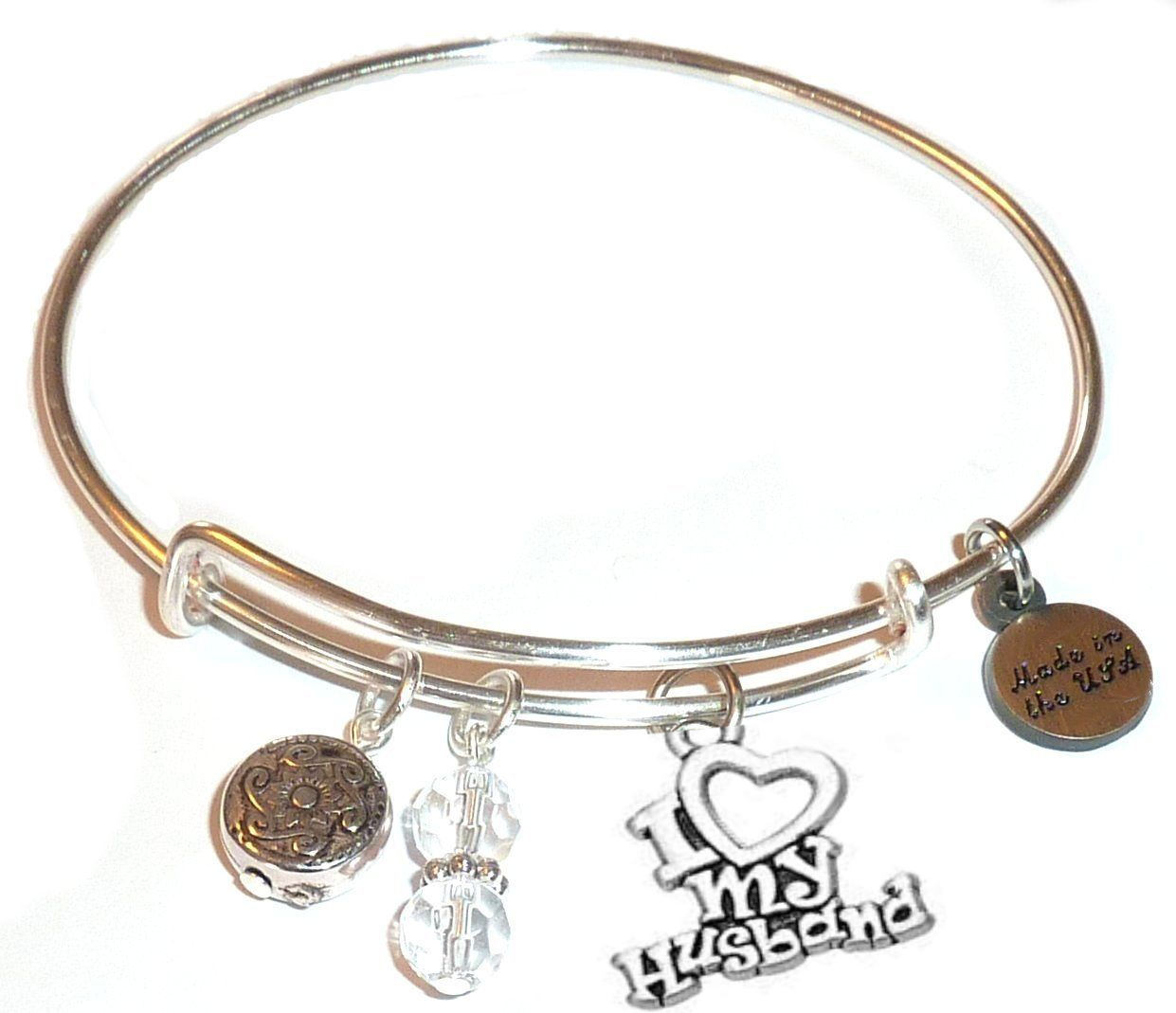 mother's day gift idea - i love my husband bangle bracelet