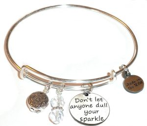 mother's day gift - sparkle bangle bracelet