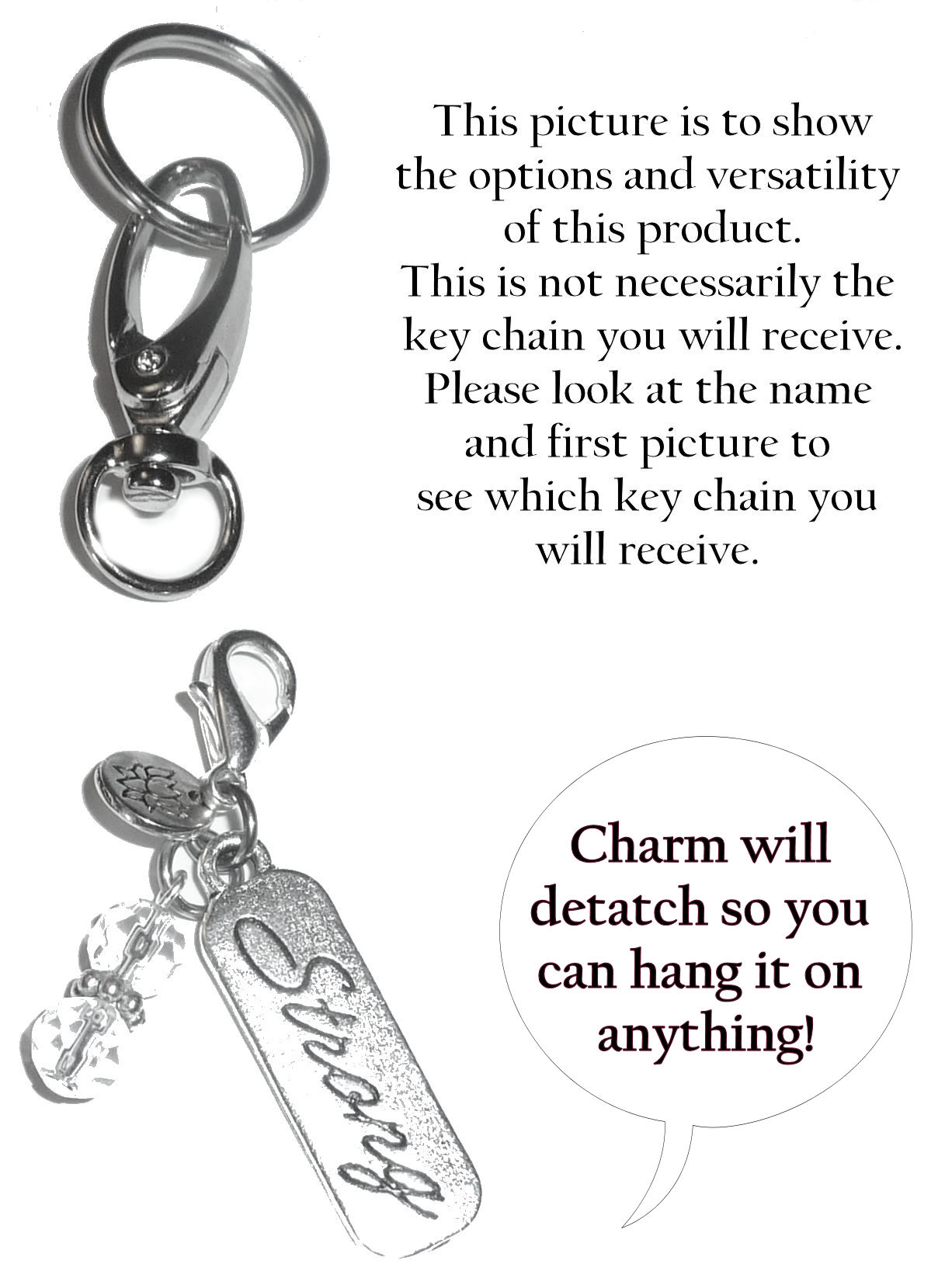 (I Love you to the Moon and Back) Charm Key Chain Ring d9b2a21cdb