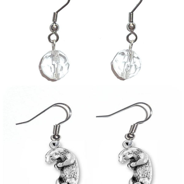 Earrings Otter