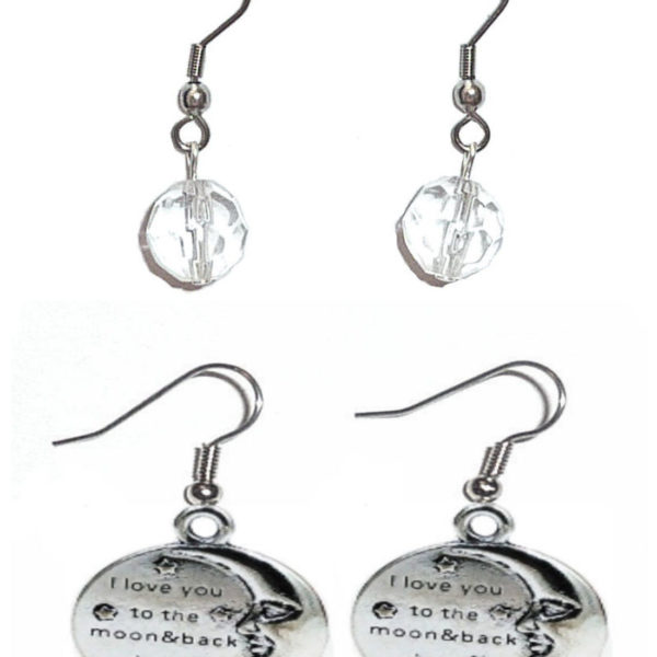 Earrings To the Moon and back