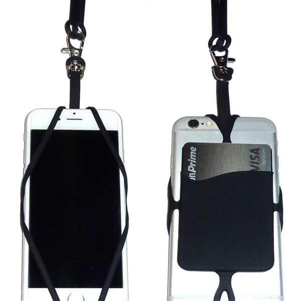 Black Silicone Cell Phone Lanyard - Copy - Copy