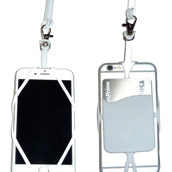 White Silicone Cell Phone Lanyard