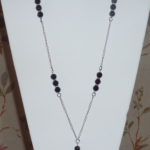Black Beaded Chain Lanyard Being Worn