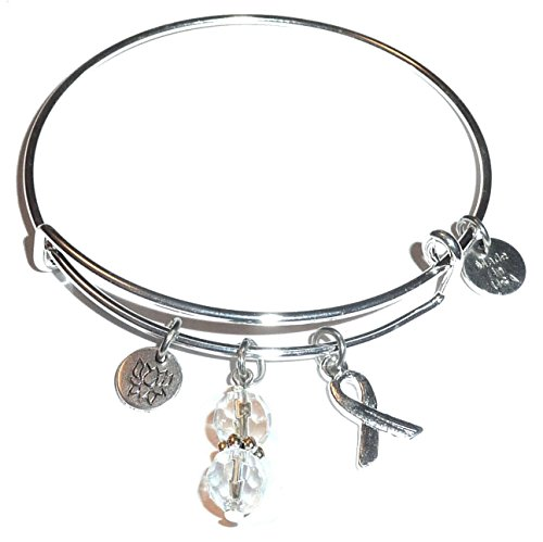 multi cancer awareness bangle bracelet