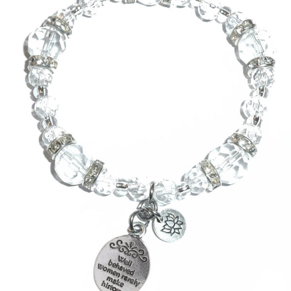 Crystal Bracelet Well behaved women