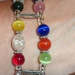 Cancer Beaded Medical Alert Replacement Bracelet being worn