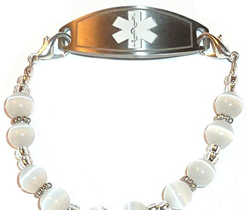 White Medical Alert ID Replacement Bracelet