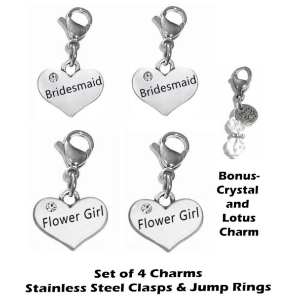 bridal party clip on charms