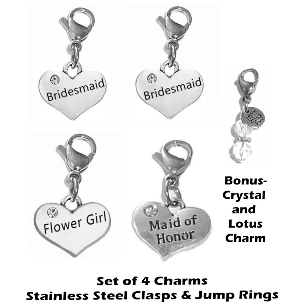 bridal party mix clip on charms