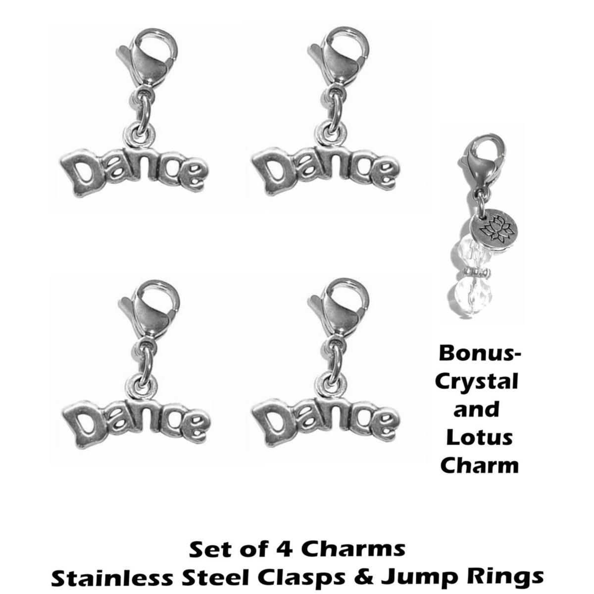 4 pack dance clip on charms - whimsical charms