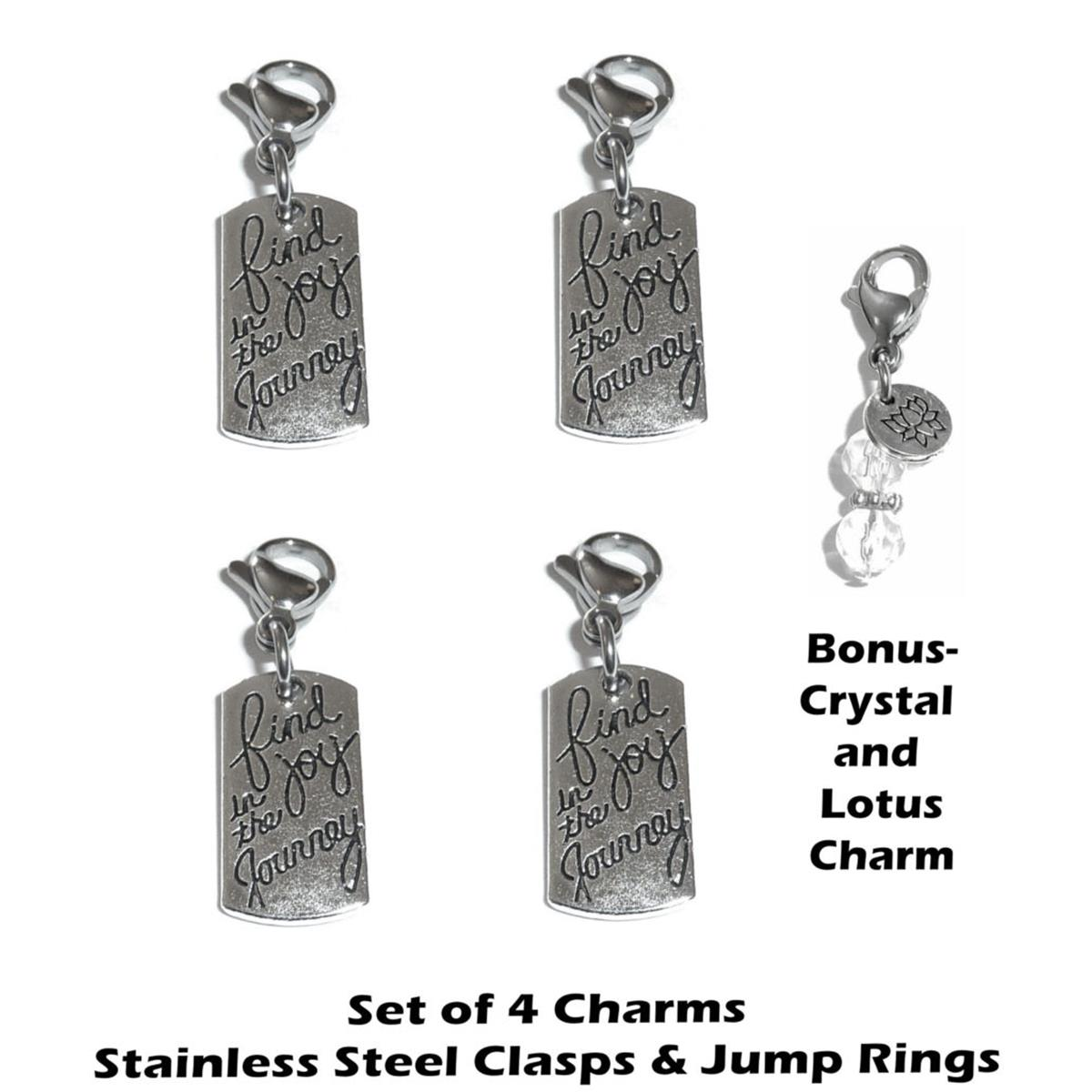 4 pack find joy clip on charms - inspirational charms