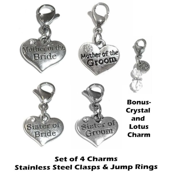 wedding family clip on charms