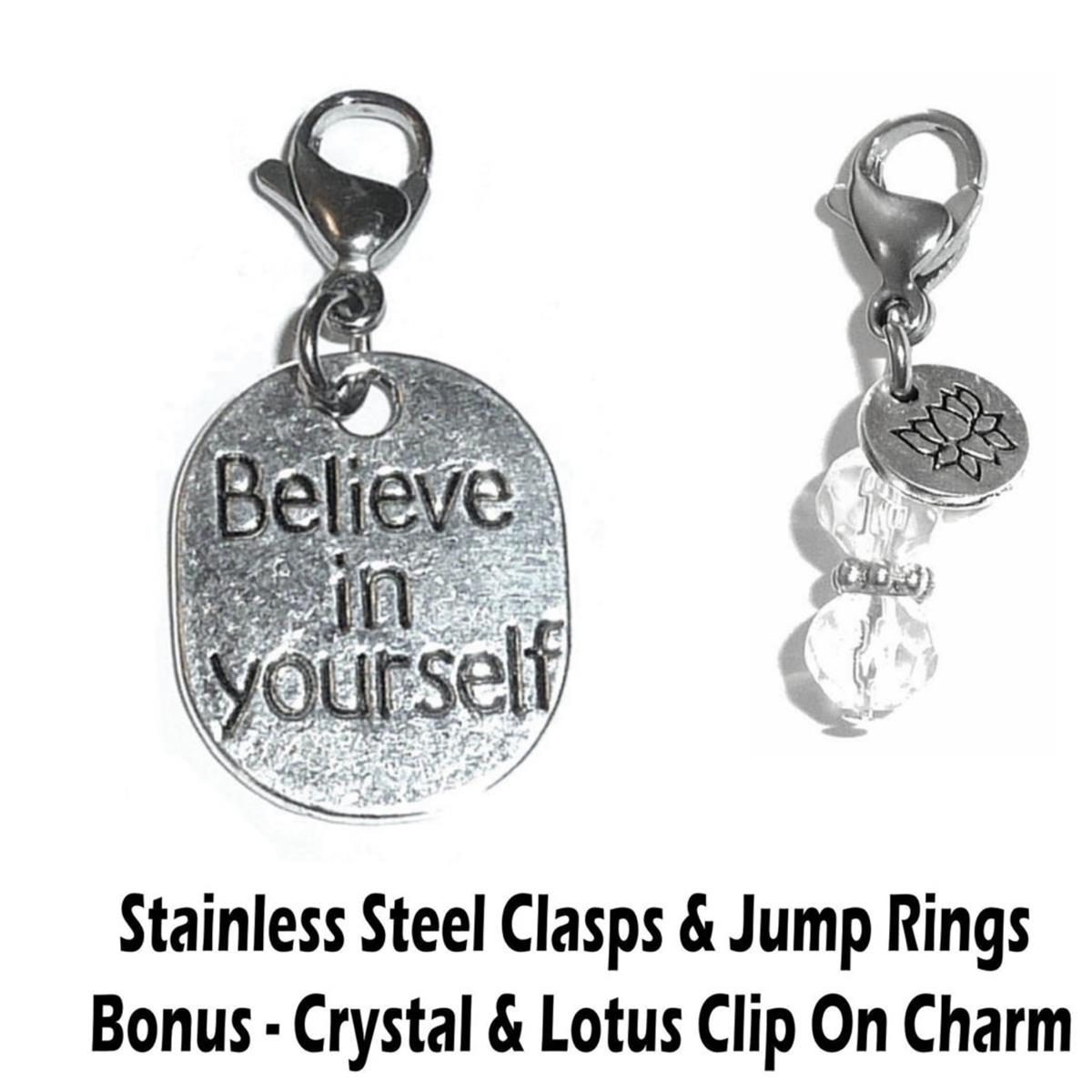 believe in yourself clip on charm - inspirational charms