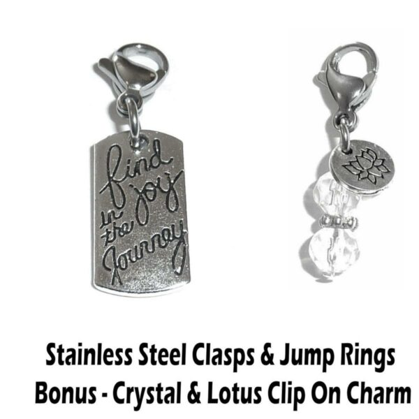 find joy in the journey clip on charm - inspirational charms
