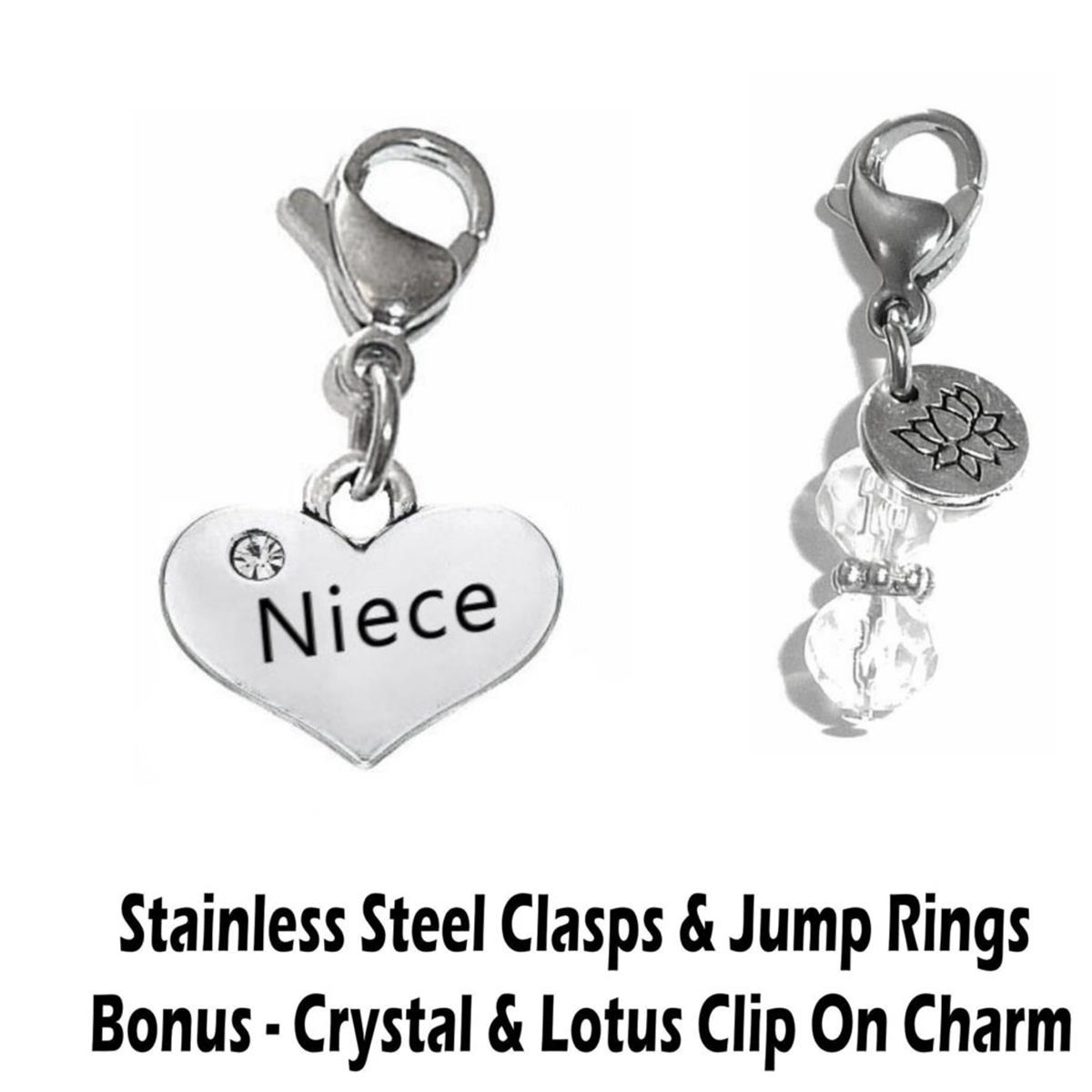 niece clip on charm - family charms