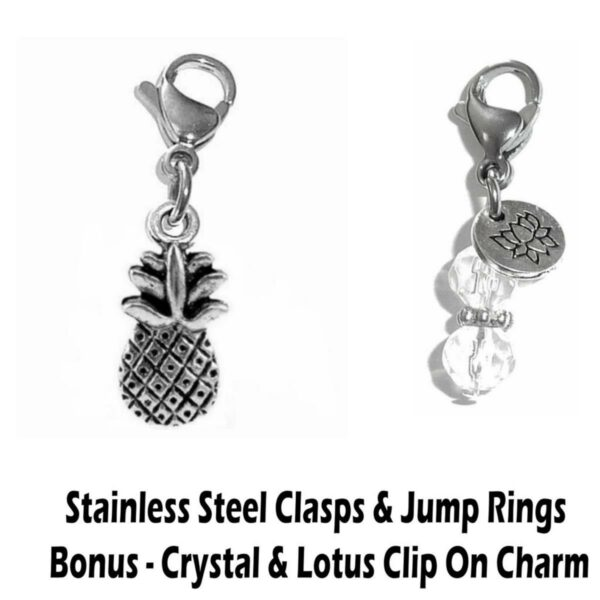 pineapple clip on charm - whimsical charms clip on