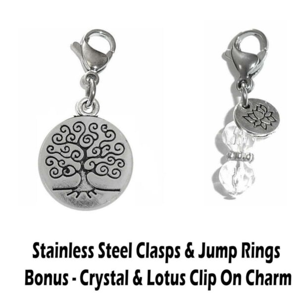 tree of life clip on charm - whimsical charms clip on