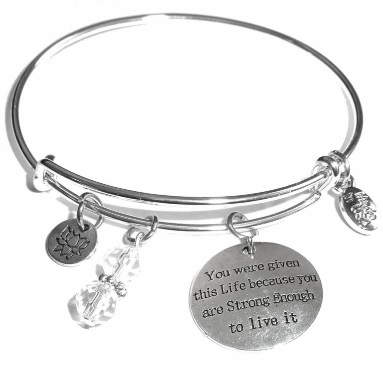 you were given this life message bangle bracelet